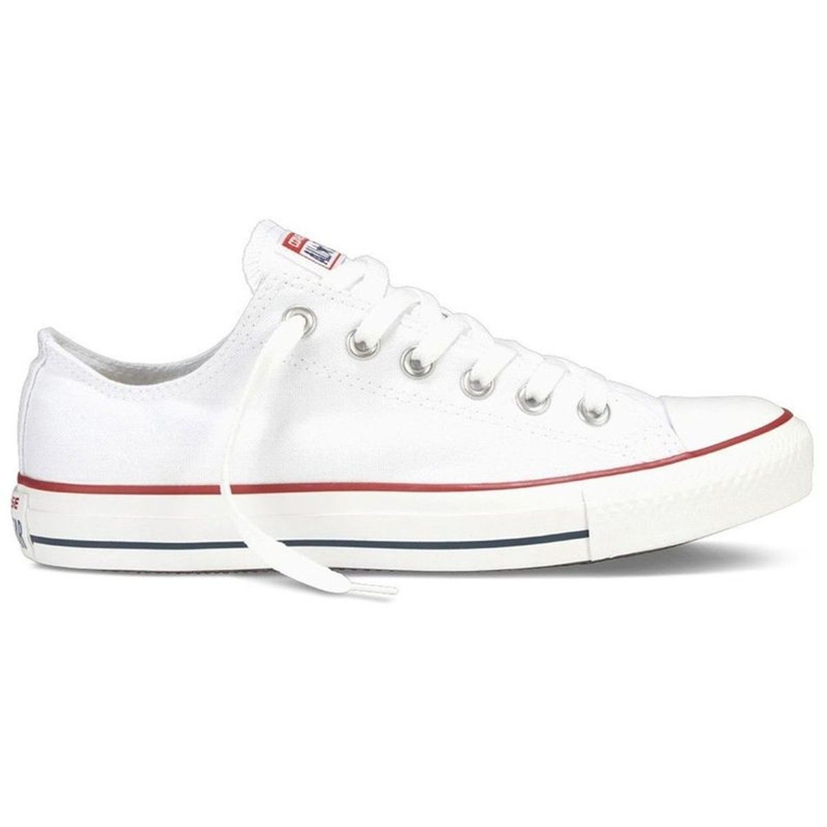 basket toile blanche style converse