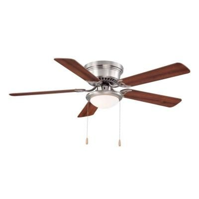 White Ceiling Fan With Reversible And Brown Blades Al383 Wh The Home Depot