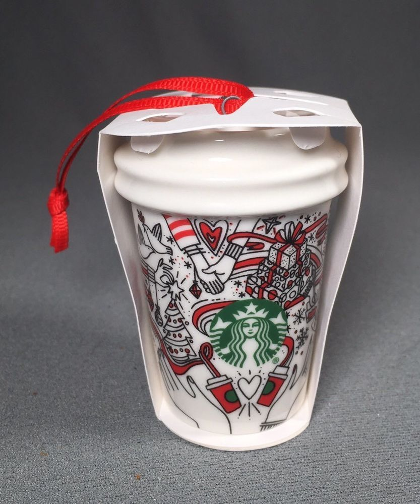 starbucks 2017 christmas ornament ceramic christmas cup 2 12 inches