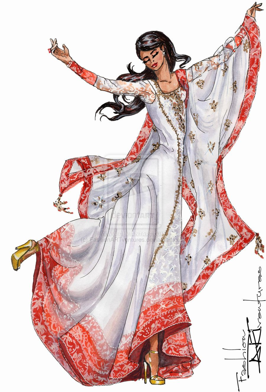 Fashion Costume Design Priyanka Chopra S Anarkali Suit By Manish Malhotra By Fas Fashion Illustration Poses Fashion Illustration Fashion Illustration Dresses