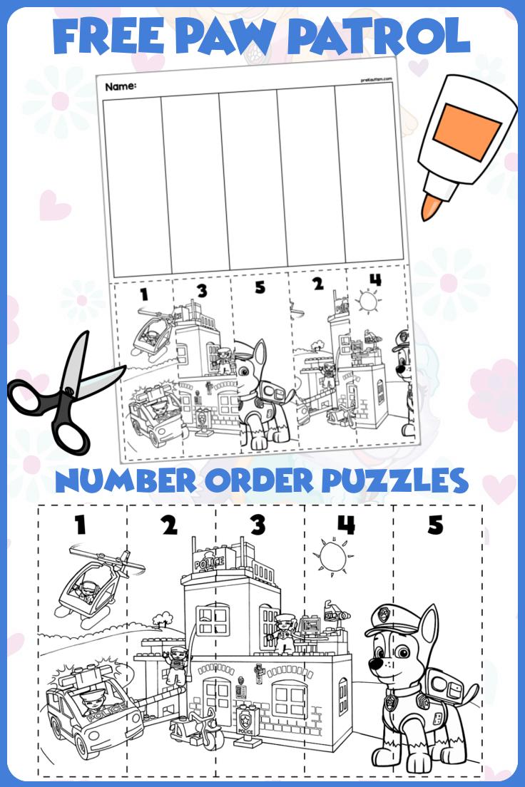 Preschool Paw Patrol Number Order Materials Numbers Preschool Free Preschool Printables Preschool Activities [ 1104 x 736 Pixel ]
