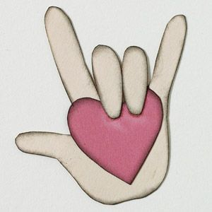 american sign language symbol for love - something our family has