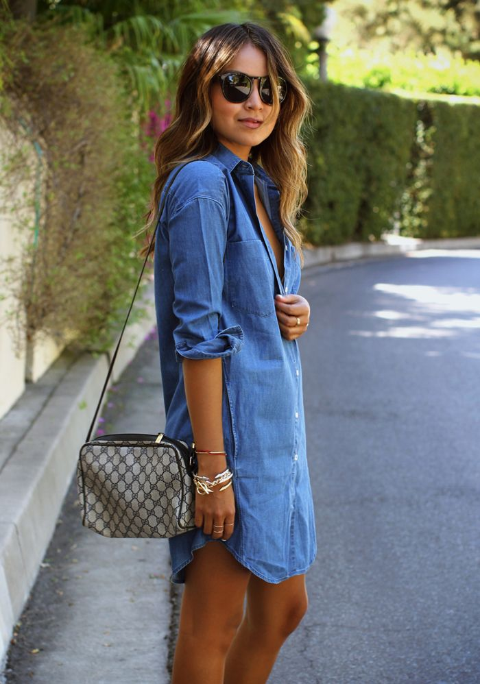 17 Best images about DENIM SHIRT DRESSES on Pinterest | Smart ...