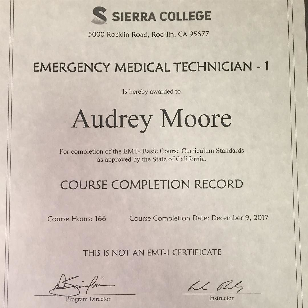 Its Official I Passed My Emt Course Now I Can Breathe For A Few
