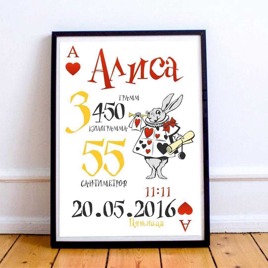 Метрика для новорожденных постер своими руками фото 520