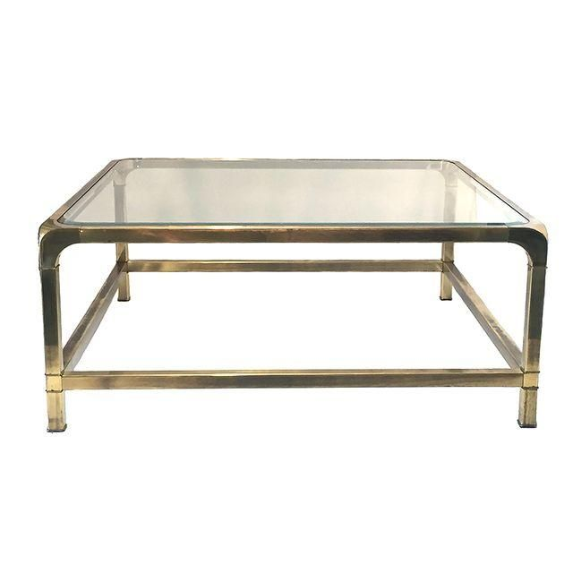 Image Of Vintage Brass Glass Coffee Table Coffee Table Brass