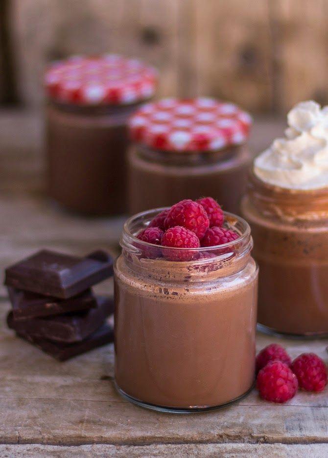 Yogur fácil de chocolate cremoso
