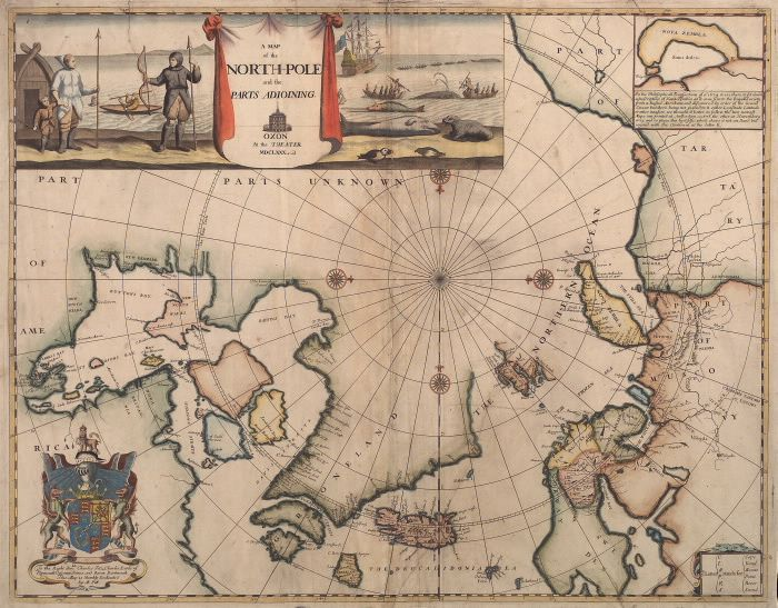 A map of the North-Pole and the parts adjoining, 1680
