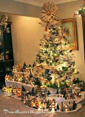 Nacimiento christmas pinterest navidad villa for Villas navidenas de porcelana