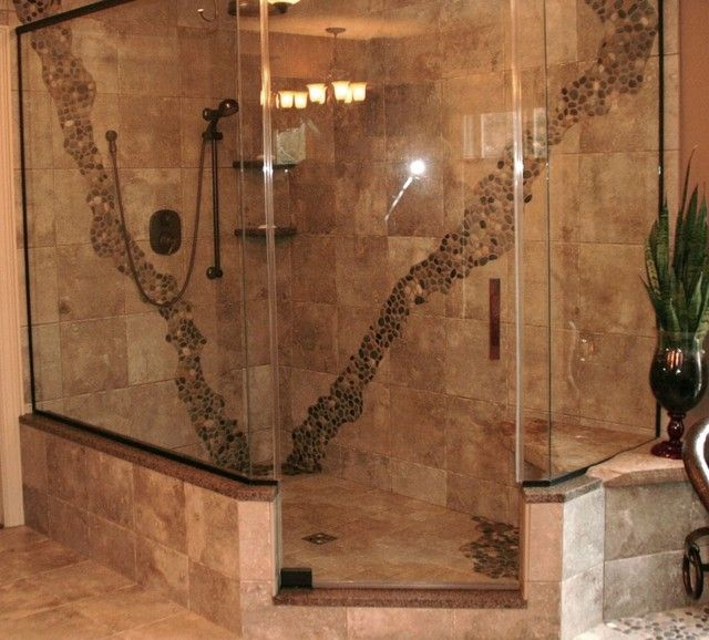 78 best images about bathroom design ideas on pinterest stone shower tile ideas photos - Walk In Shower Tile Design Ideas