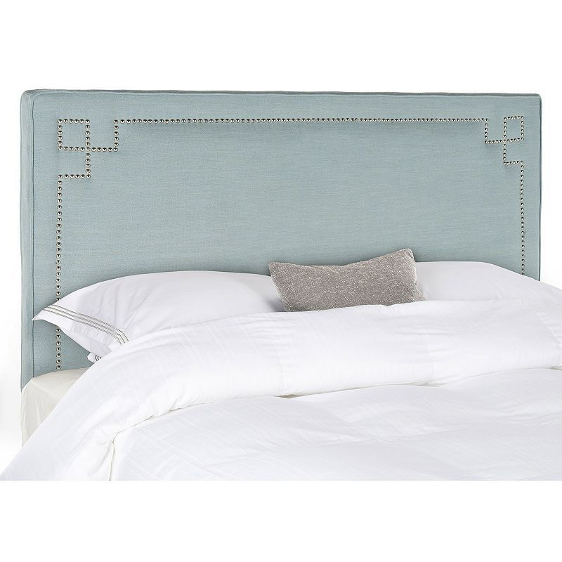Safavieh Remington Nailhead Headboard, Blue | Decoración