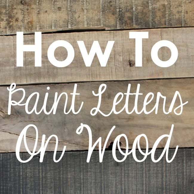 Diy rustic wood sign tutorial painted letters for Making wooden letters