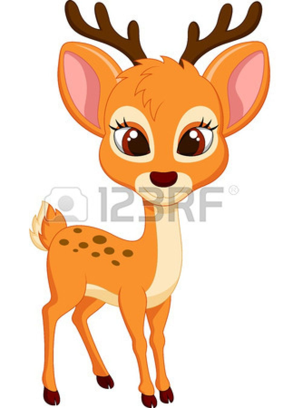 Cute Deer Cartoon Card Ideas Deer Cartoon Baby Animal Drawings
