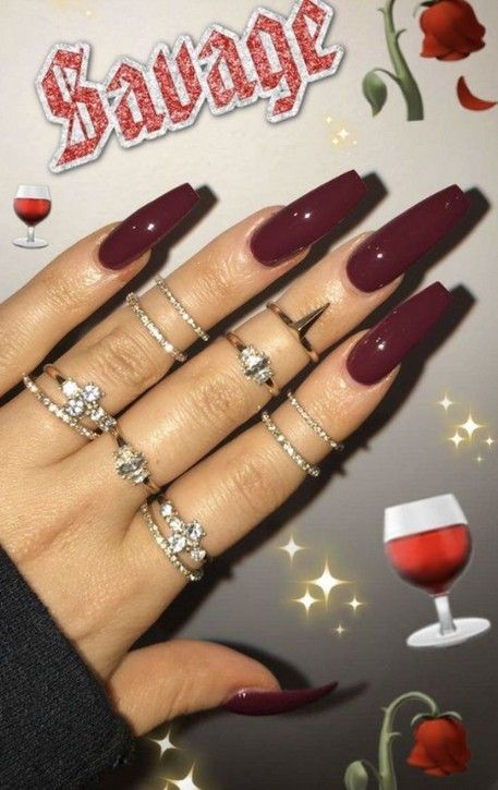 70+ Best Chosen Acrylic Coffin Nails Inspirational Design For Prom And Party – Page 7 of 76