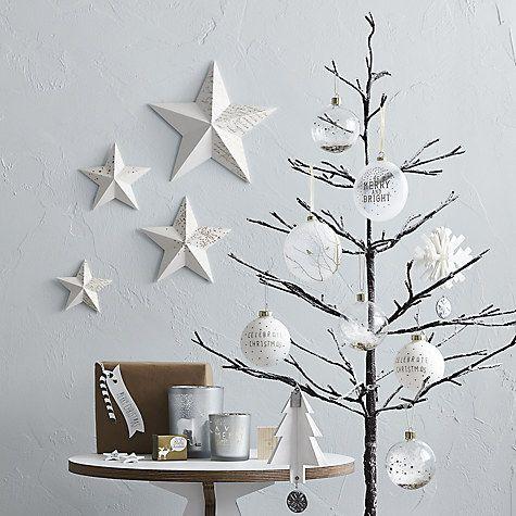 Buy John Lewis 4ft Pre-Lit Snowy Twig Christmas Tree, White Online at johnlewis.com   Christmas ...