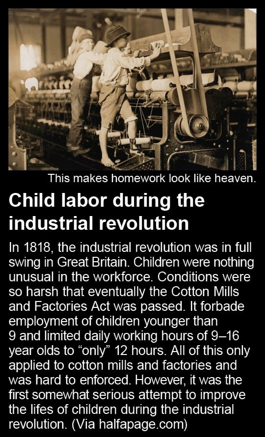 Child Labour During The Industrial Revolution Industrial