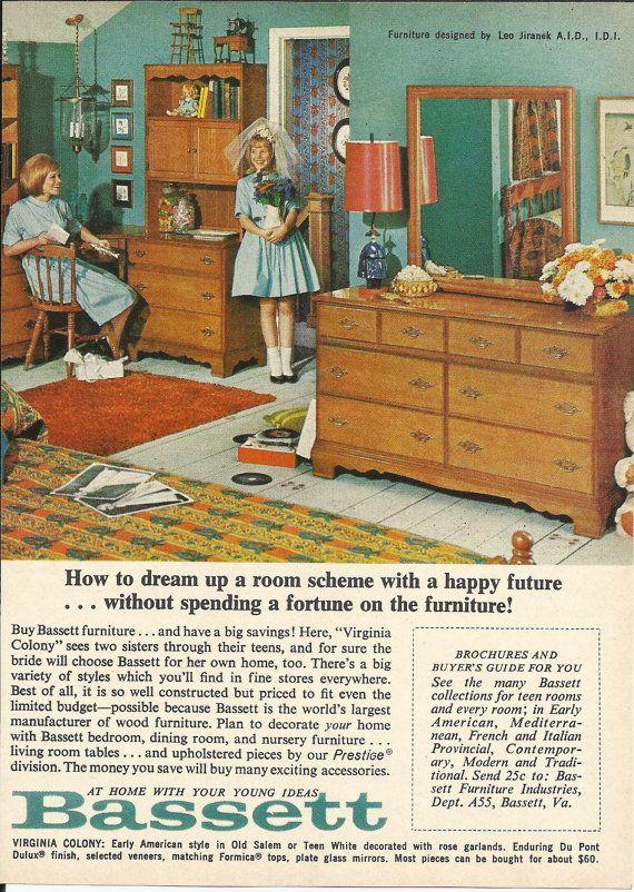 BASSETT FURNITURE for Teen Rooms Original 1965 Vintage ...