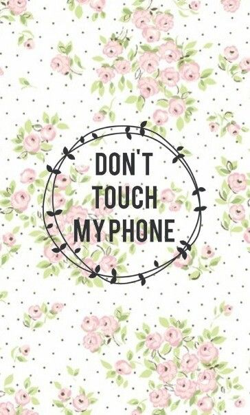 Pink White Green Vintage Floral Spots Dots Dont Touch Iphone