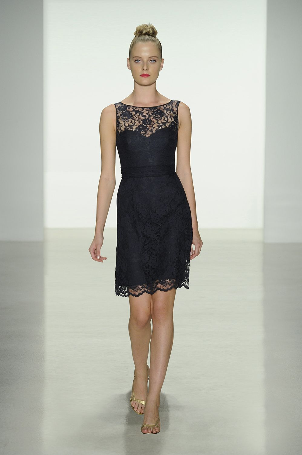 Navy Lace Dress For Wedding