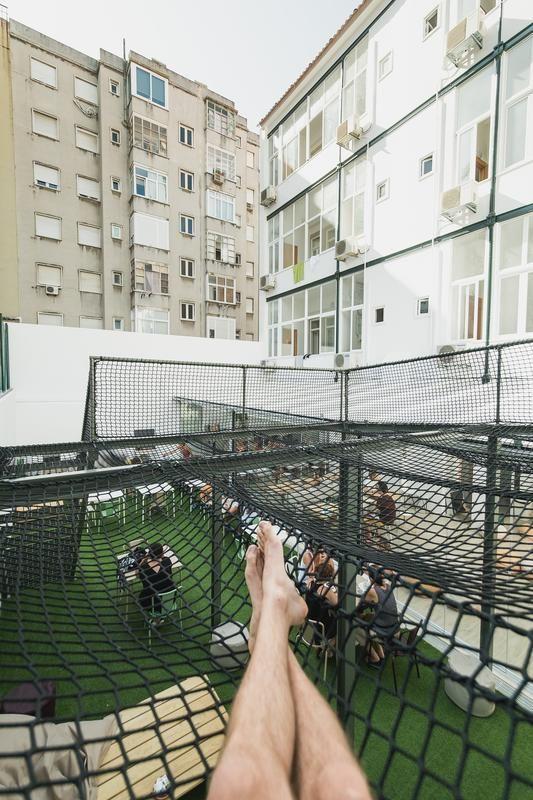 hub lisbon patio hostel lisbon