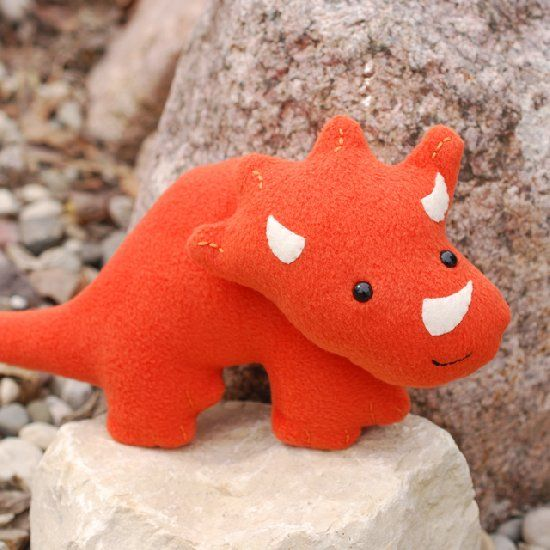 Sew a super soft and sweet triceratops with this free pattern ...