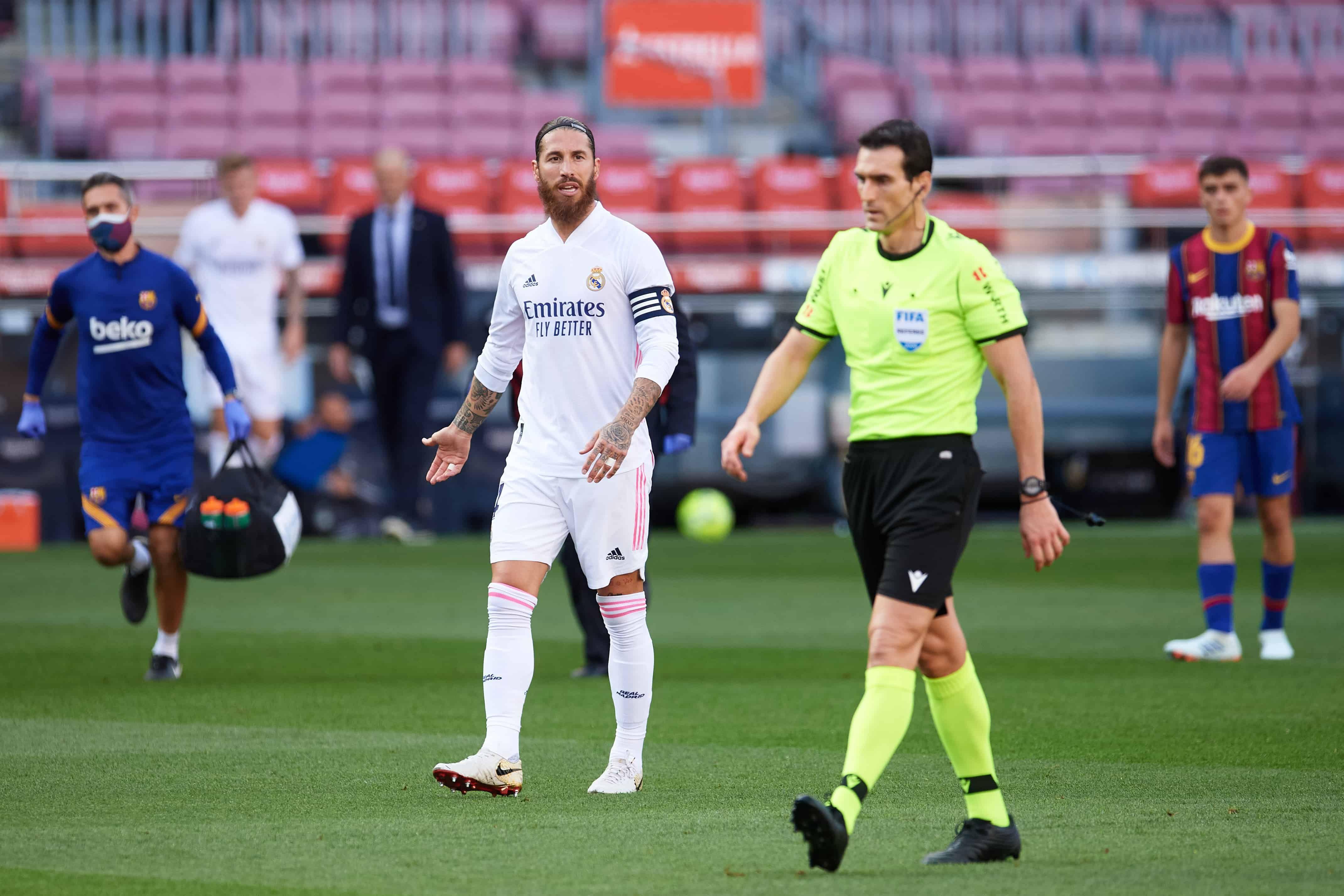 Sigue la polémica! filtraron un audio al árbitro de Barcelona-Real Madrid:  Es falta de Ramos - TyC Sports | Real madrid, Arbitro, Barcelona