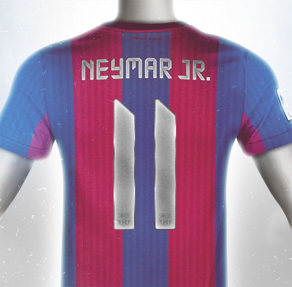 hot sale online b2a63 8eff1 Conceptual FC Barcelona Kit Design Neymar | Shrine ...