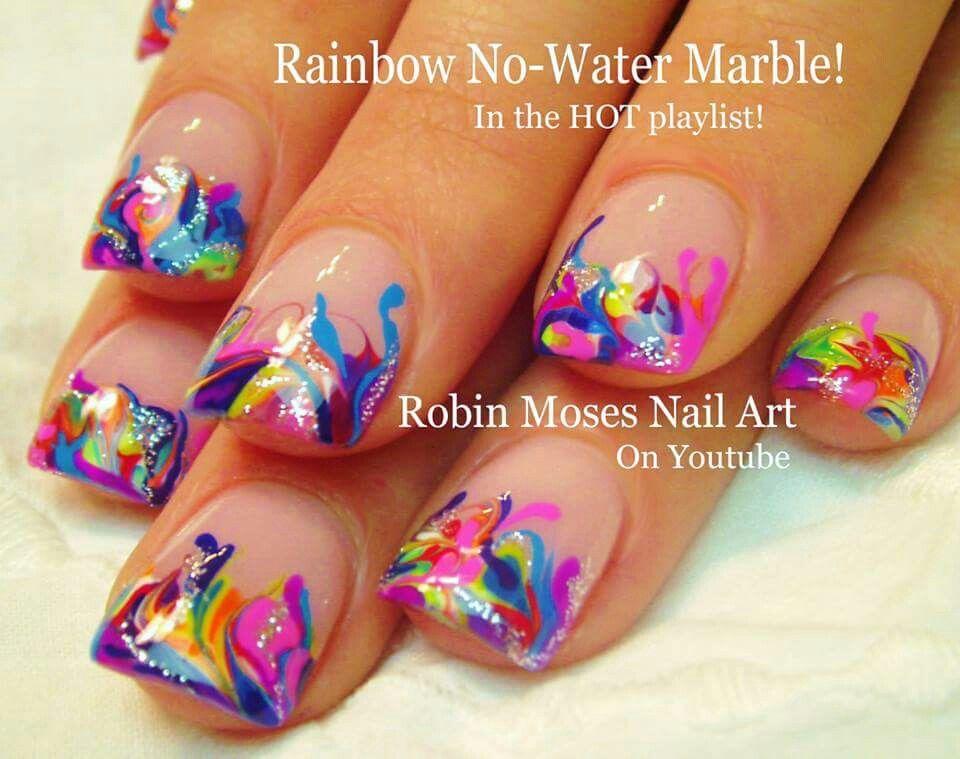 Rainbow Nail Art Pinterest Manicura Una Decoradas