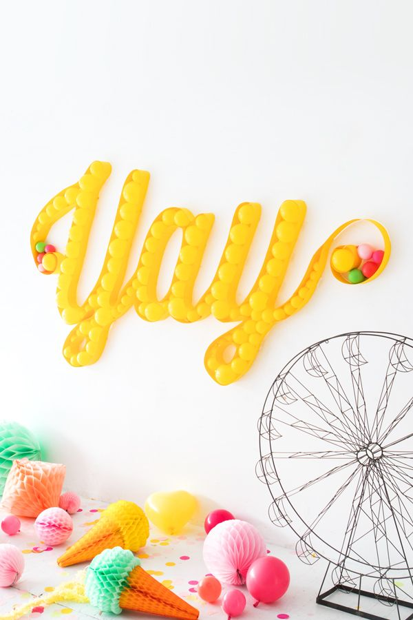 Balloon Marquee Backdrop | Oh Happy Day! | DIY | Pinterest ...