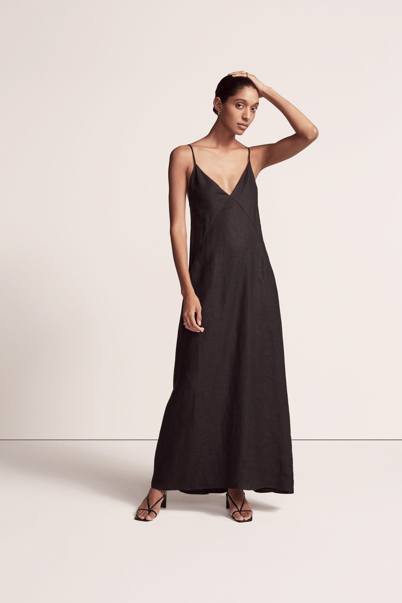 Seamed Slip Dress Another Tomorrow Slip Dress Summer Slip Dress Dresses [ 2400 x 1600 Pixel ]
