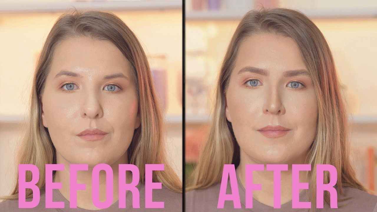 How To Contour Your Nose Fake A Nose Job Bulbous Nose Nose Job Contour