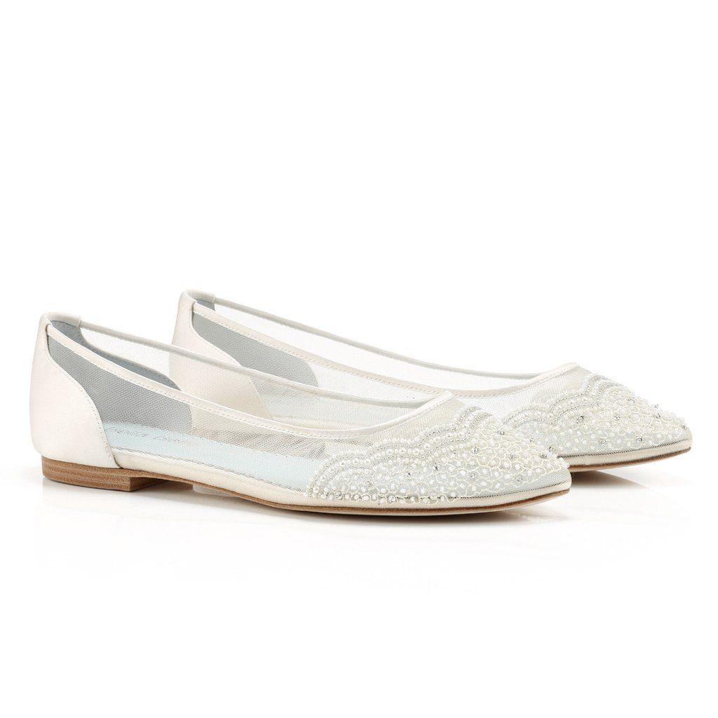 4efe3747cf8c0f Beaded Ivory Flats for Wedding - Hailey Ivory Ivory Flats