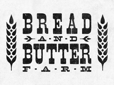 Bread and Butter Farm Logos Typography logo
