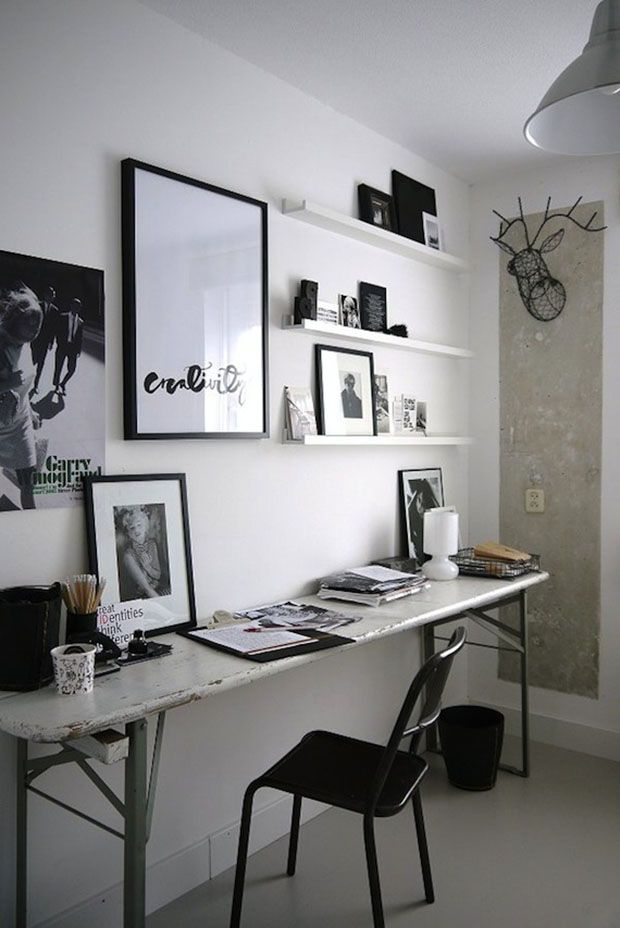 42 id es d co de bureau pour votre loft bureau noir id es de d co et bureau. Black Bedroom Furniture Sets. Home Design Ideas