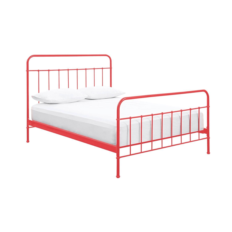 sunday scarlet red bed frame domayne