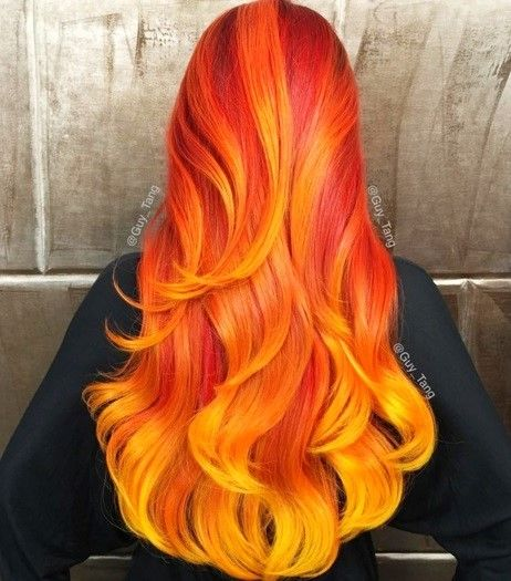 Frisuren orange haare