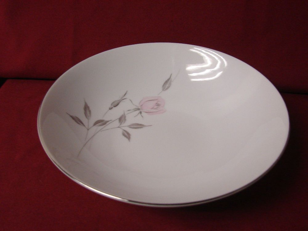 mikasa china dinnerware madeleine pattern pink rose round serving bowl