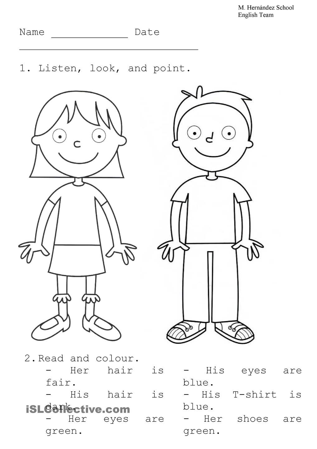 Boy And Girl English Pinterest Worksheets Printable Boy And Template For Kindergarten