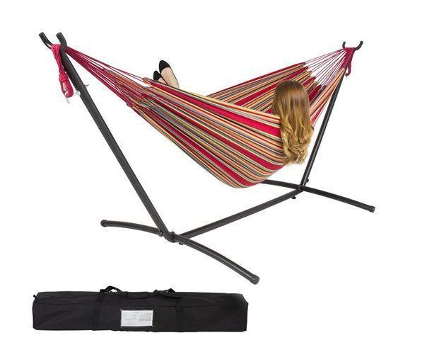 Free Standing Banana Hammock Swing Outdoor Furniture Stand