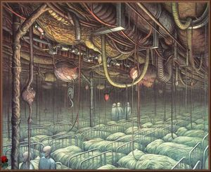 Internal Inspection - (Jacek Yerka) #surrealism #art #artwork #oilpainting #symbolism #mechanics