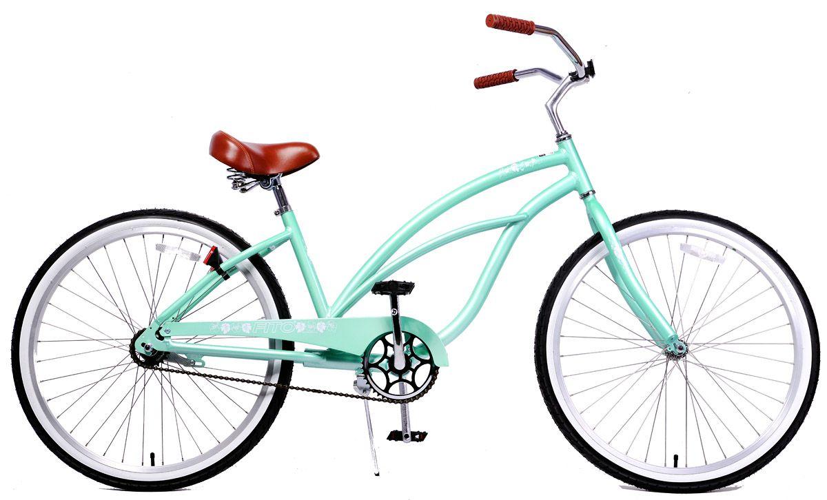 Aluminum Light Weight Beach Cruiser Bike Matte black Fito Marina Alloy 1-speed
