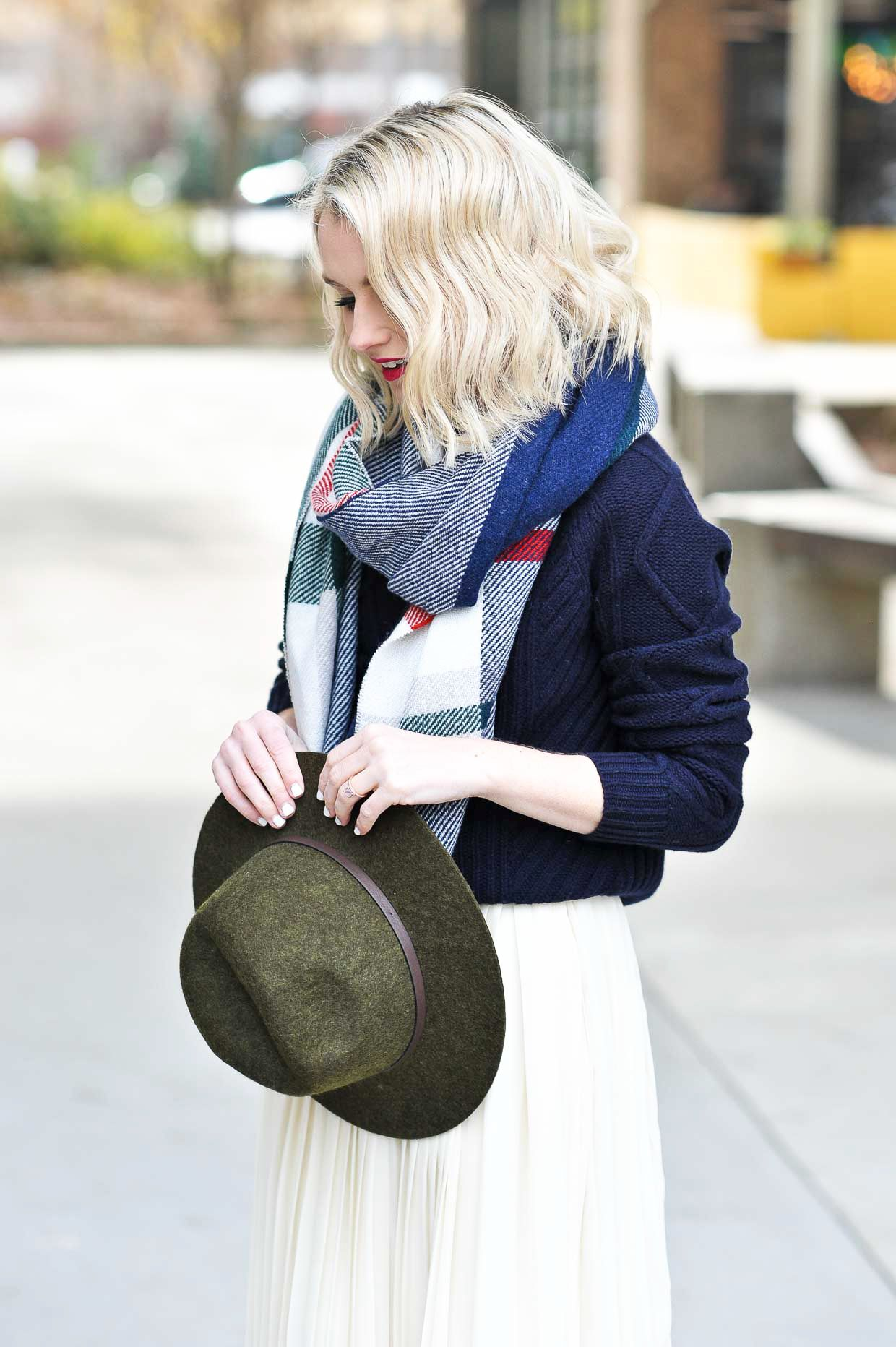 a686d1da376 How To Style A Navy Sweater Over A Dress - Poor Little It Girl ...
