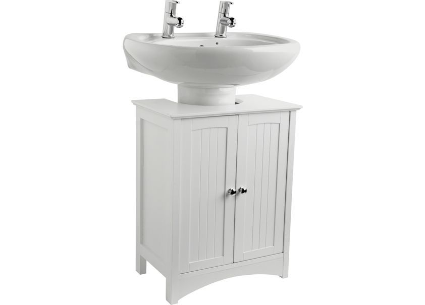 Wow Home Tongue And Groove Under Sink Storage Unit White At Argos Co