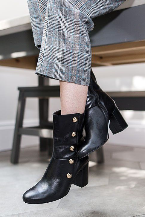 4eec481ed4cf Black Mid Heel Ankle Boots. Paying tribute to the current military ...