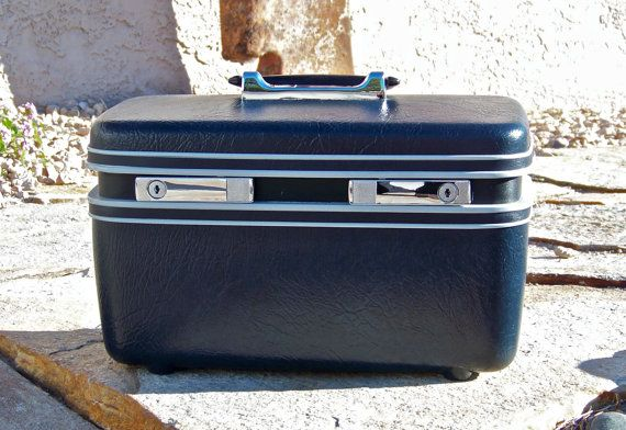 Vintage Train Case Ready to Travel by cynthiasattic on Etsy, $39.00