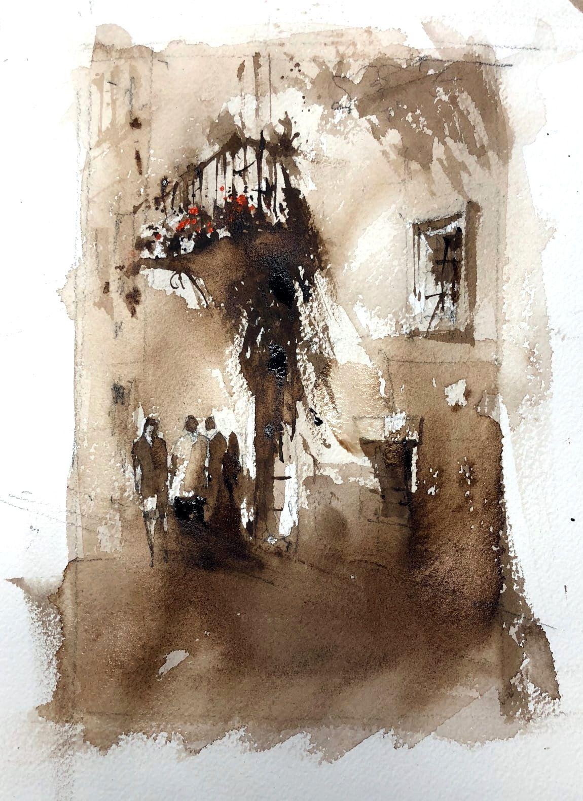 Vladislav Yeliseyev Small Sketch Before Final Watercolor Demo