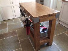 Reclaimed Rustic English Oak Butchers Block Kitchen Island Furniture Storage