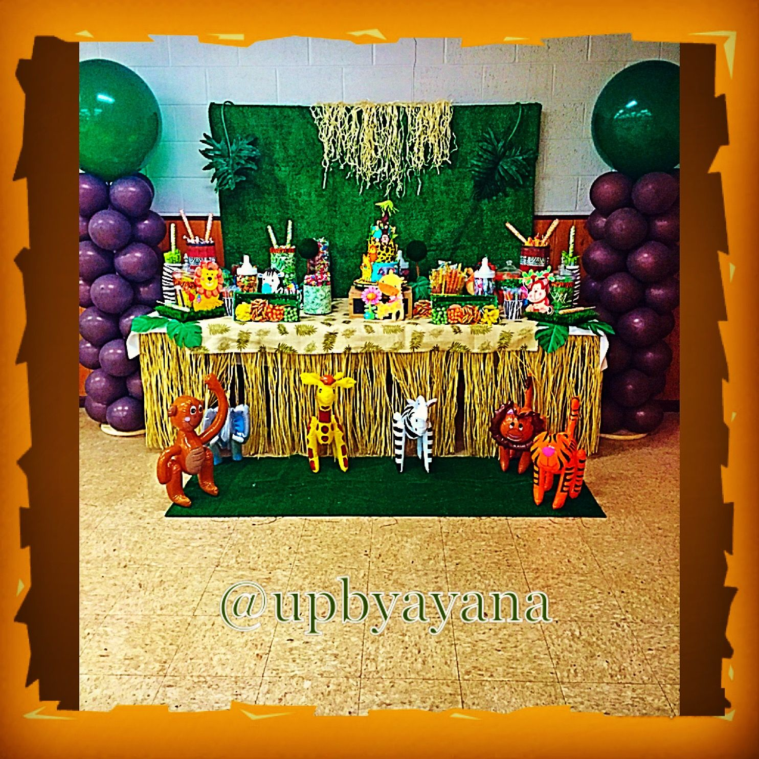 Safari theme Jungle theme Candy table for baby shower
