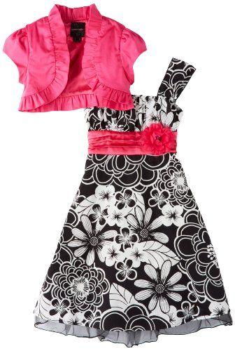 My Michelle Girls 7-16 Short Sleeve Jacket Dress, Pink, 7   Shelby ...