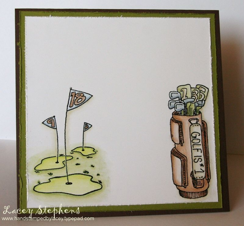 Blank Golf Gift Certificates On The Inside I Embossed 18th Green